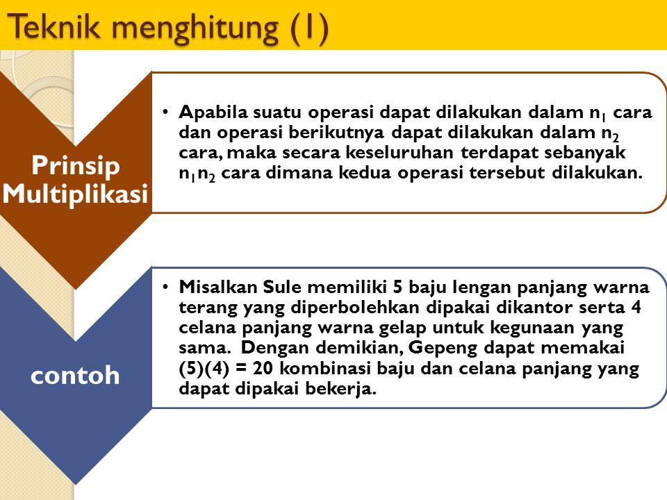 Teknik menghitung (1) Prinsip Multiplikasi