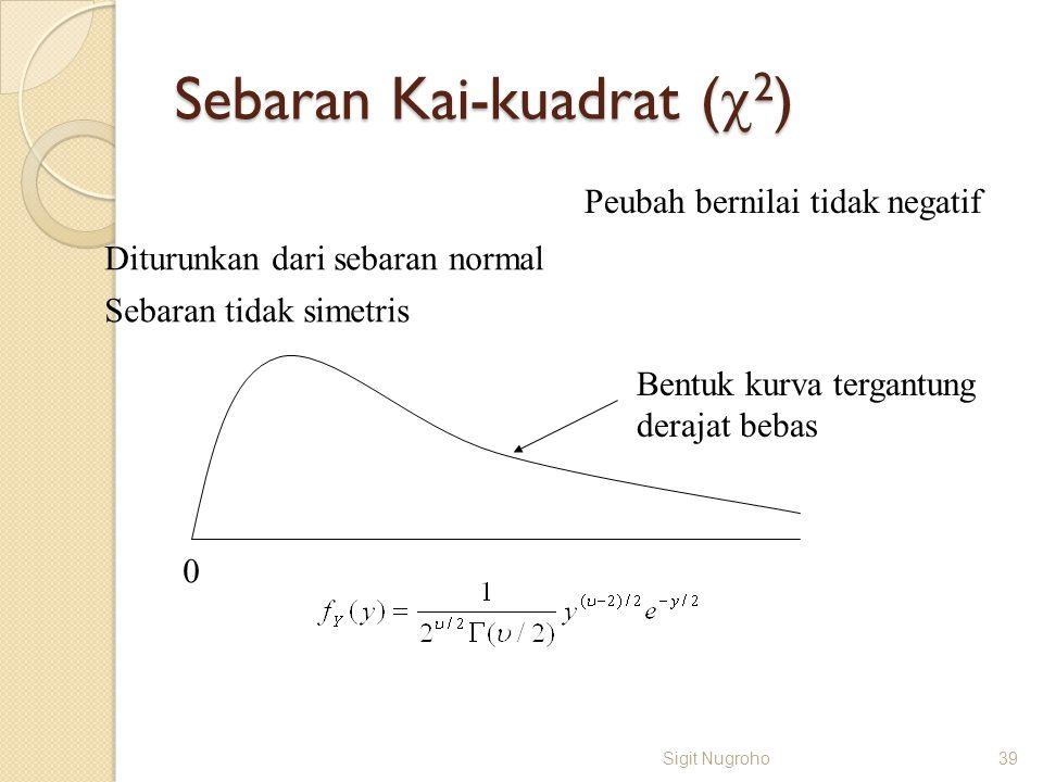 Sebaran Kai-kuadrat (c2)