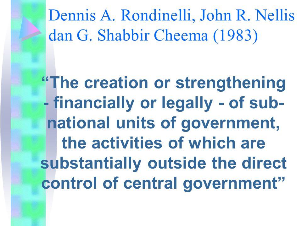 Dennis A. Rondinelli, John R. Nellis dan G. Shabbir Cheema (1983)