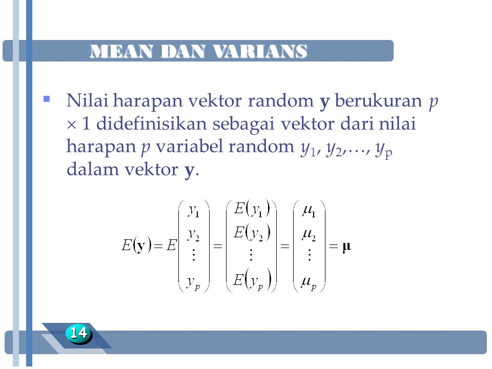 MEAN DAN VARIANS