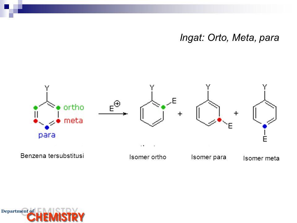 Ingat: Orto, Meta, para Benzena tersubstitusi Isomer ortho Isomer para