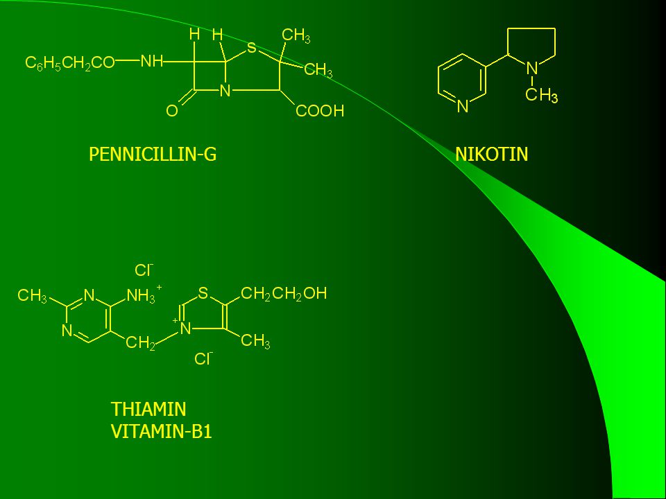 PENNICILLIN-G NIKOTIN THIAMIN VITAMIN-B1
