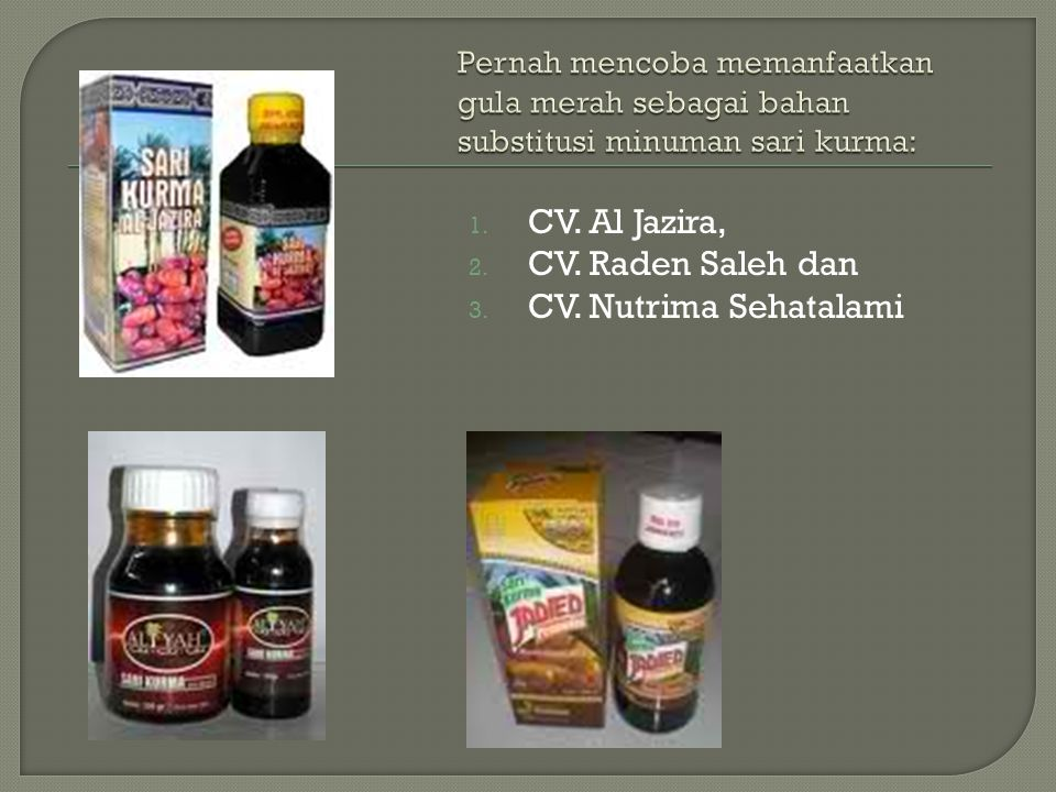 CV. Al Jazira, CV. Raden Saleh dan CV. Nutrima Sehatalami