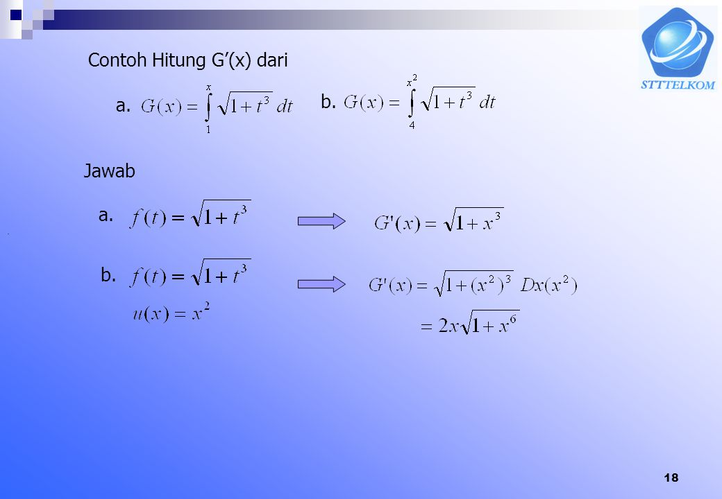 Contoh Hitung G'(x) dari