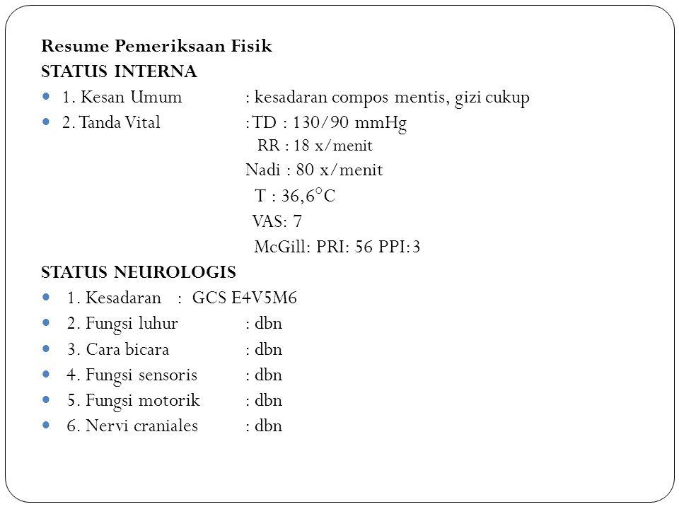 Resume Pemeriksaan Fisik STATUS INTERNA