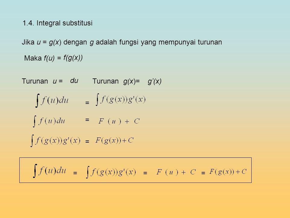 Jika u = g(x) dengan g adalah fungsi yang mempunyai turunan