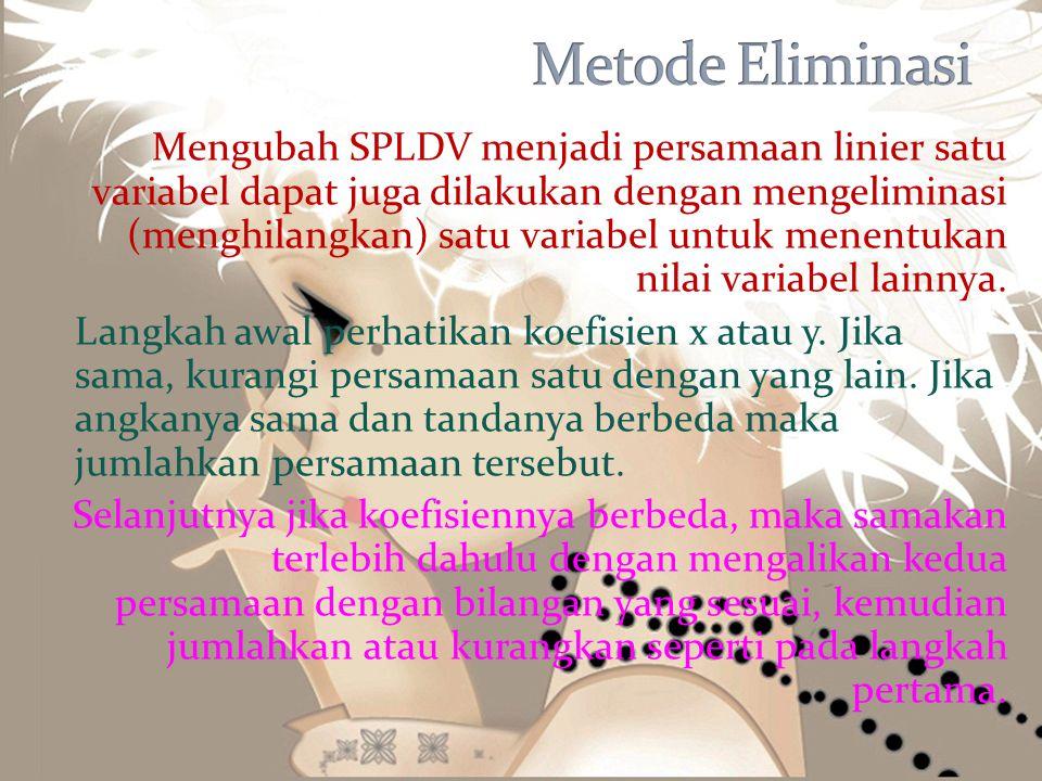 Metode Eliminasi
