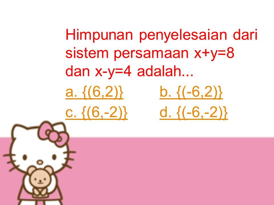 a. {(6,2)} b. {(-6,2)} c. {(6,-2)} d. {(-6,-2)}