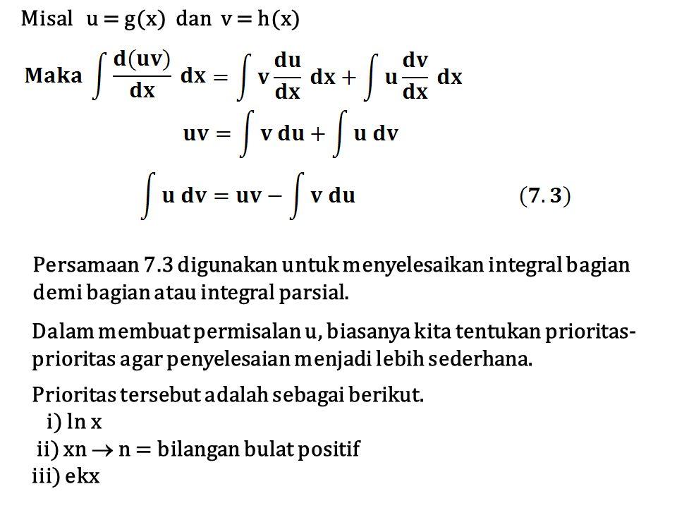 Misal u = g(x) dan v = h(x)