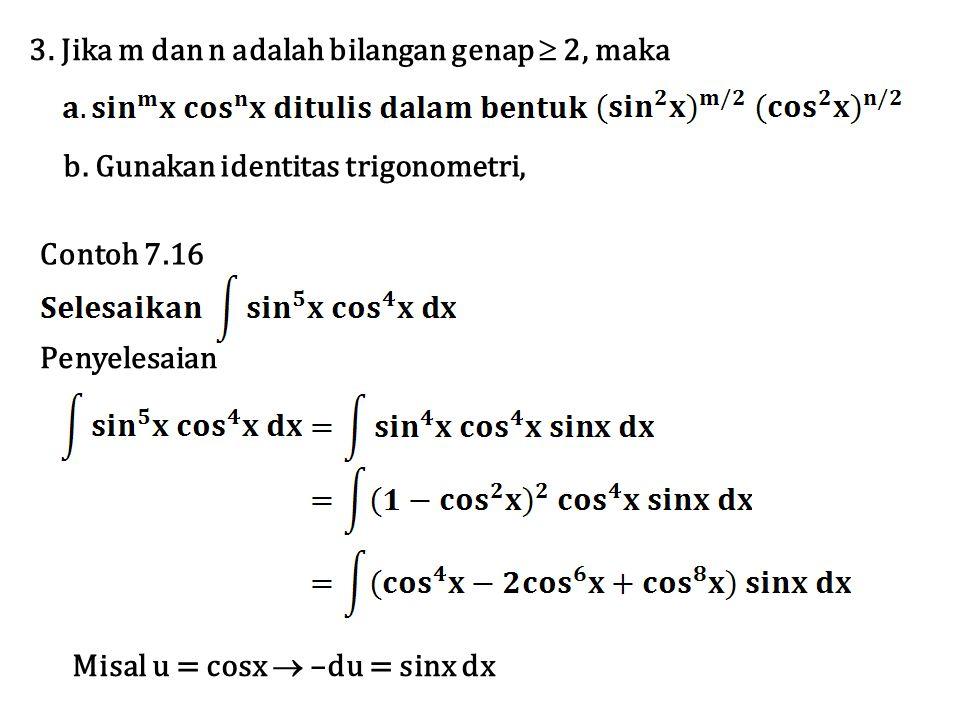3. Jika m dan n adalah bilangan genap  2, maka