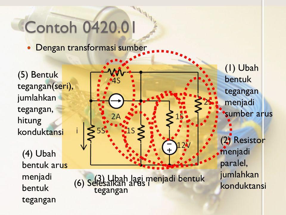 Contoh 0420.01 Dengan transformasi sumber