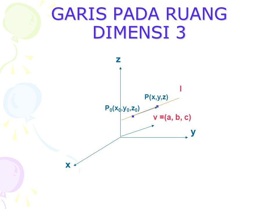 GARIS PADA RUANG DIMENSI 3