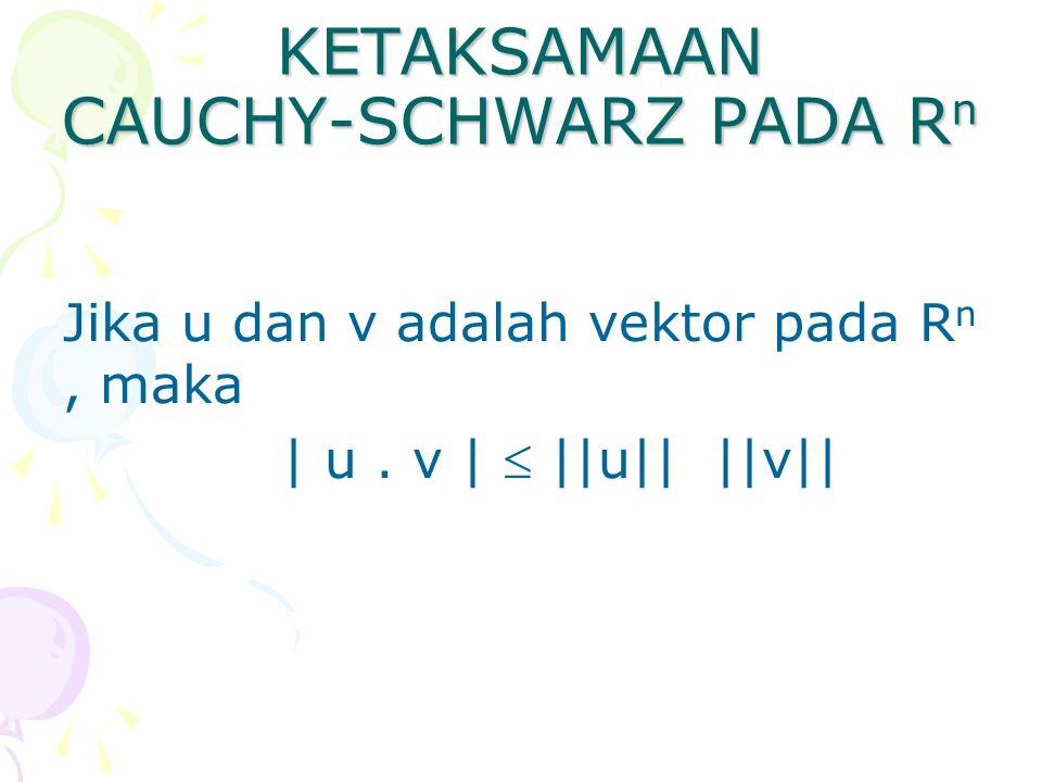 KETAKSAMAAN CAUCHY-SCHWARZ PADA Rn