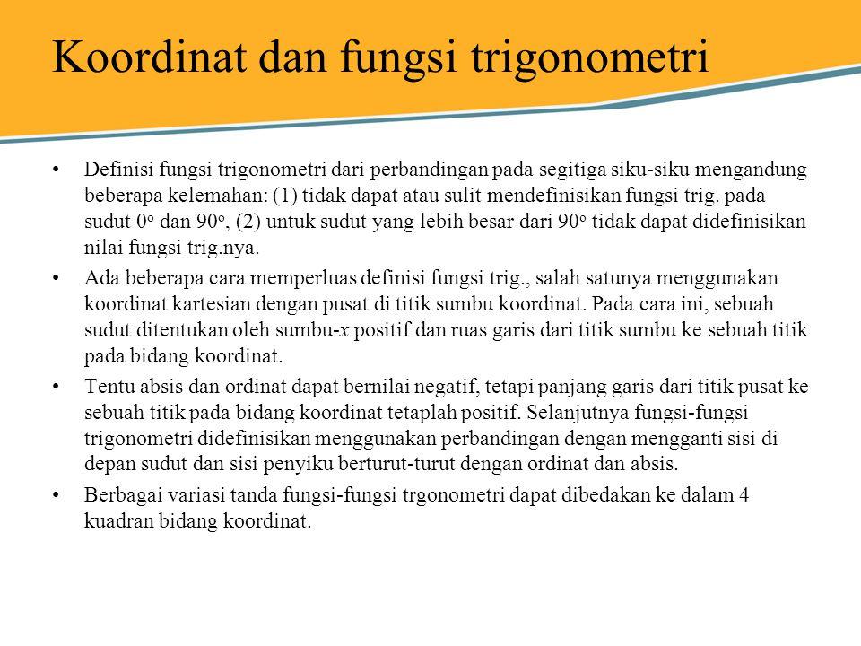Koordinat dan fungsi trigonometri