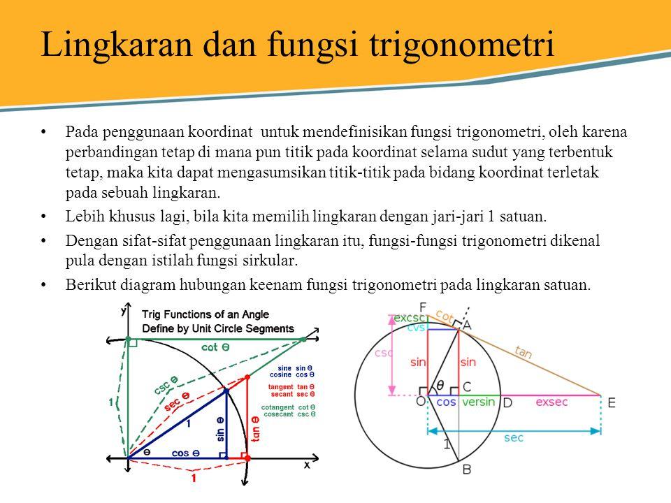 Lingkaran dan fungsi trigonometri