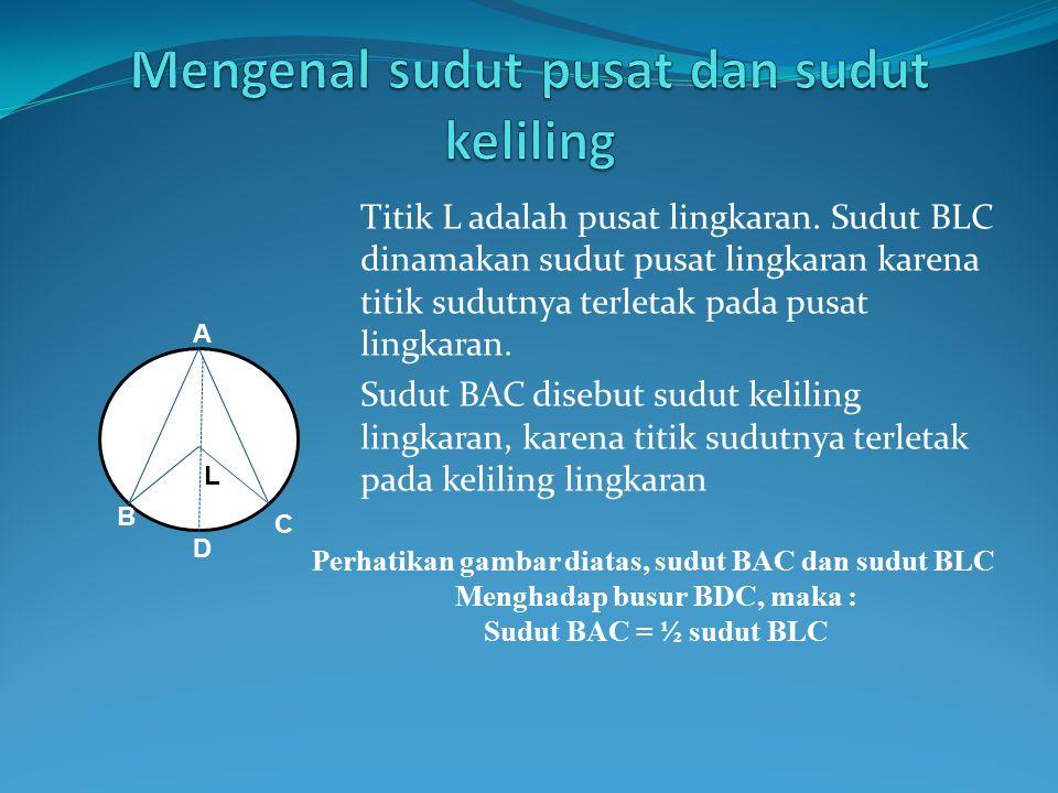 Mengenal sudut pusat dan sudut keliling