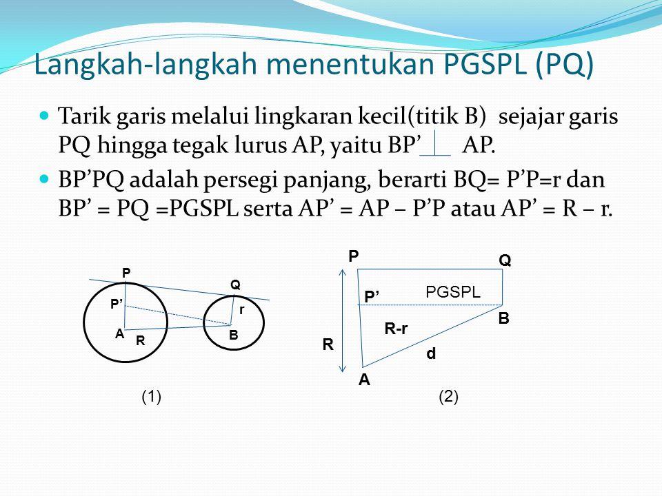 Langkah-langkah menentukan PGSPL (PQ)