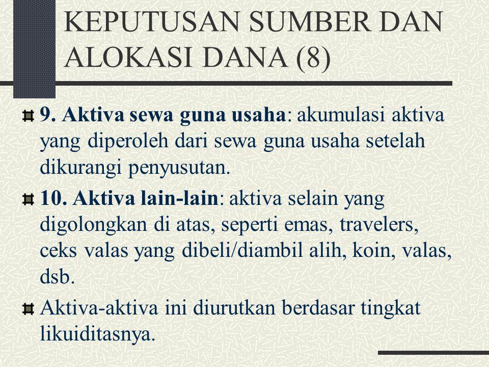 KEPUTUSAN SUMBER DAN ALOKASI DANA (8)