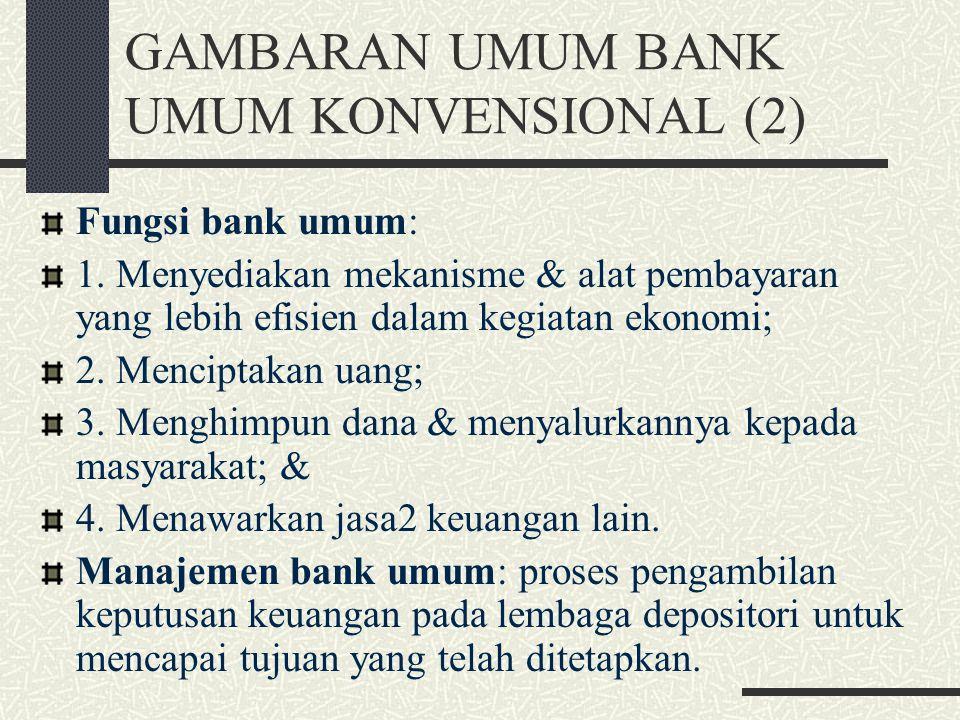 GAMBARAN UMUM BANK UMUM KONVENSIONAL (2)
