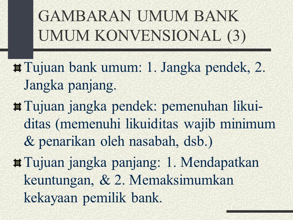 GAMBARAN UMUM BANK UMUM KONVENSIONAL (3)