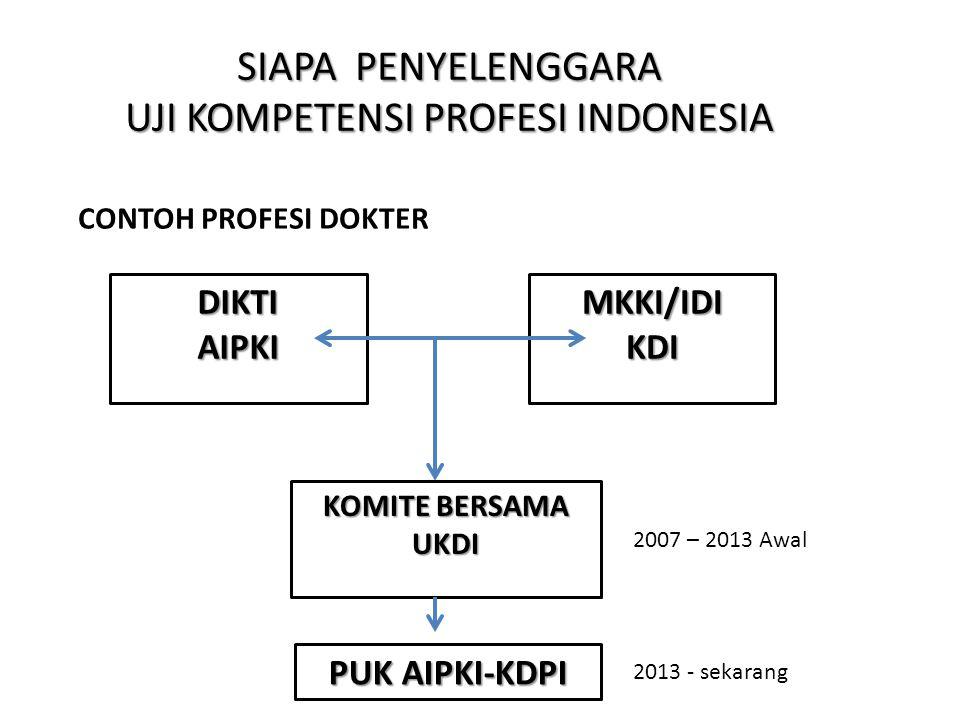 SIAPA PENYELENGGARA UJI KOMPETENSI PROFESI INDONESIA