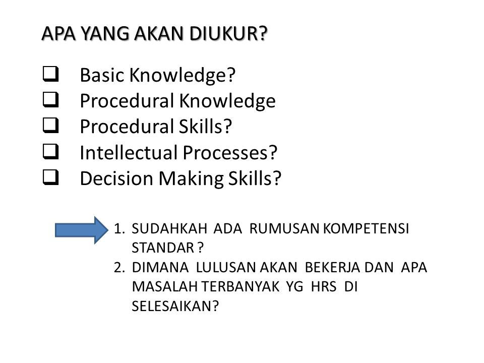 Intellectual Processes Decision Making Skills