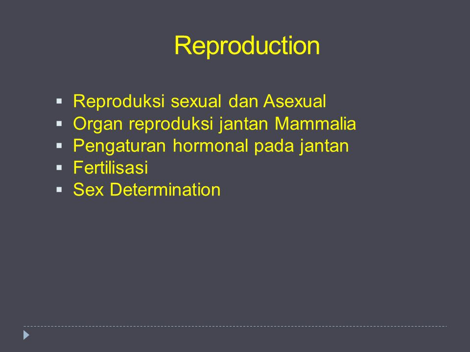 Reproduction Reproduksi sexual dan Asexual