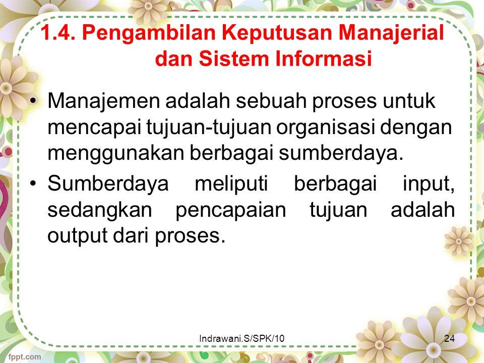 1.4. Pengambilan Keputusan Manajerial dan Sistem Informasi