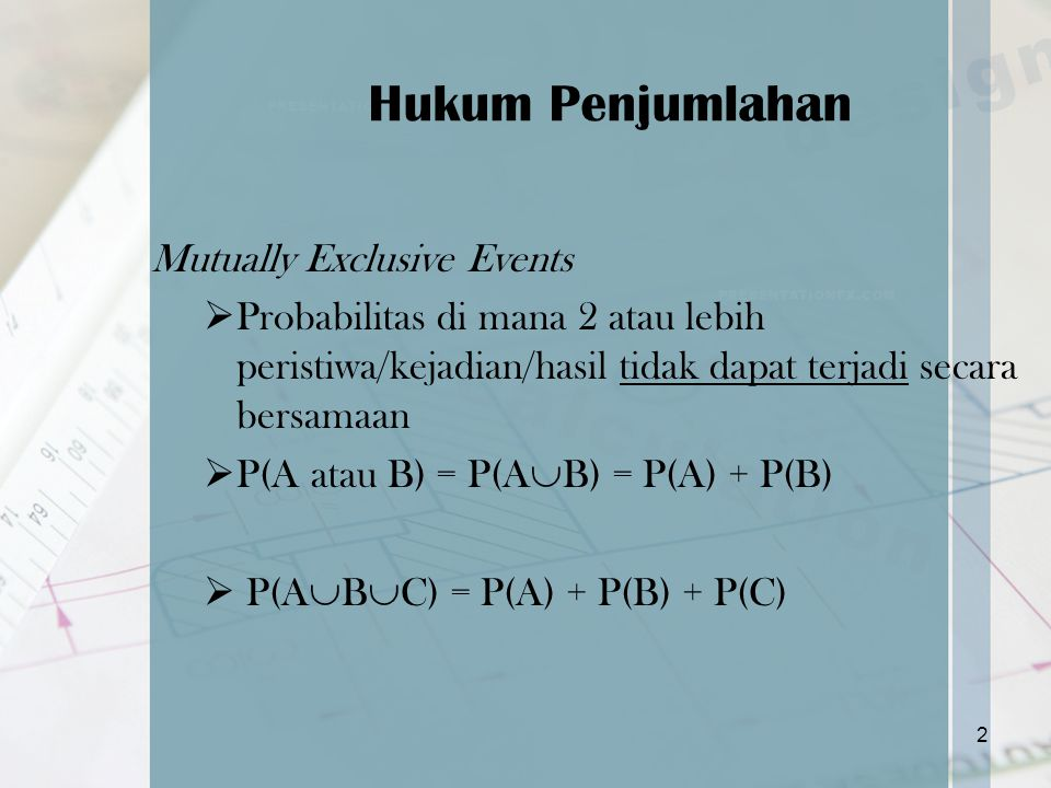 Hukum Penjumlahan Mutually Exclusive Events