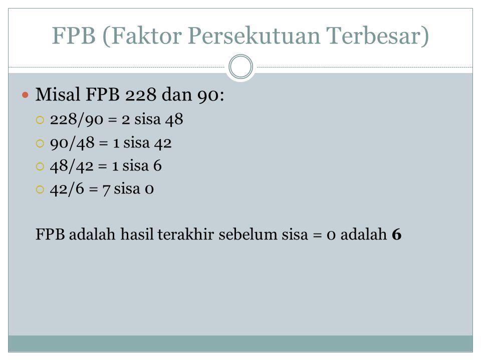 FPB (Faktor Persekutuan Terbesar)