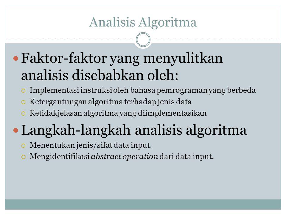 Faktor-faktor yang menyulitkan analisis disebabkan oleh: