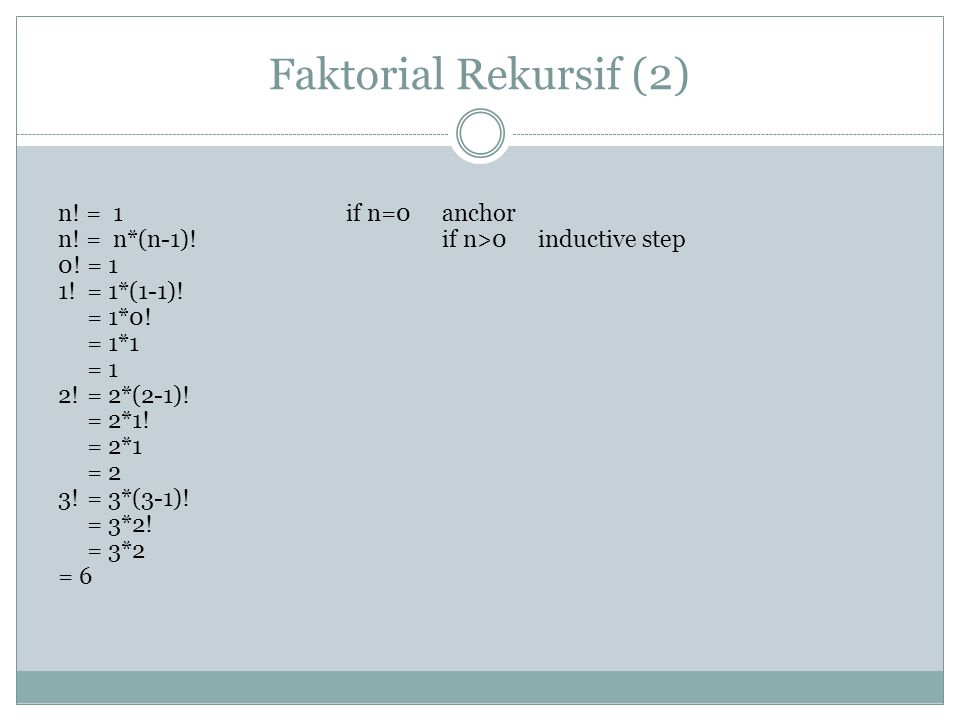 Faktorial Rekursif (2)