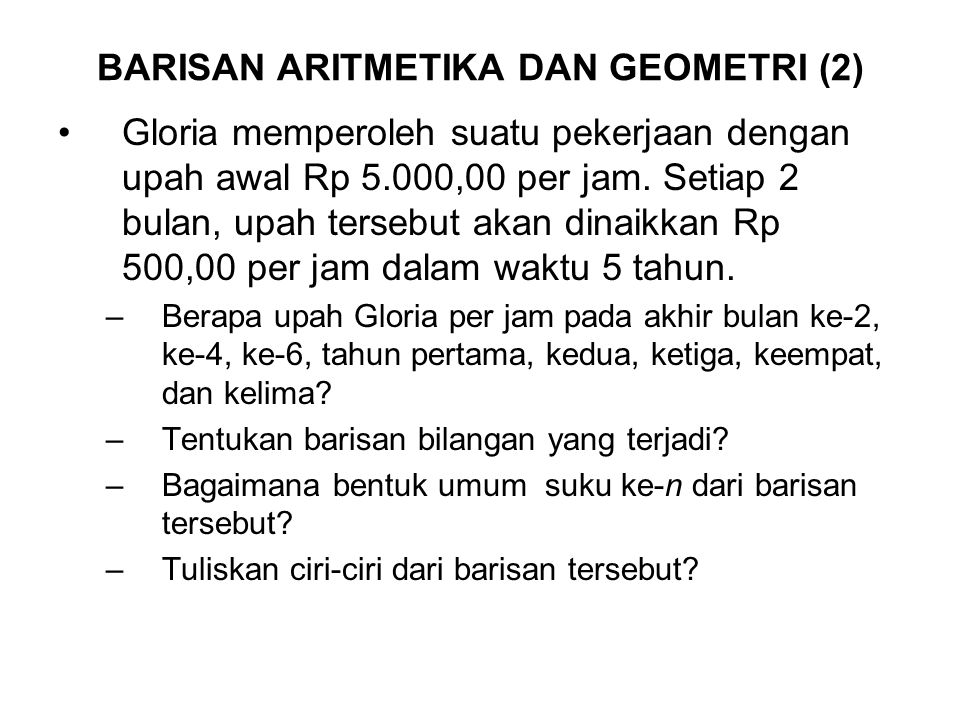 BARISAN ARITMETIKA DAN GEOMETRI (2)