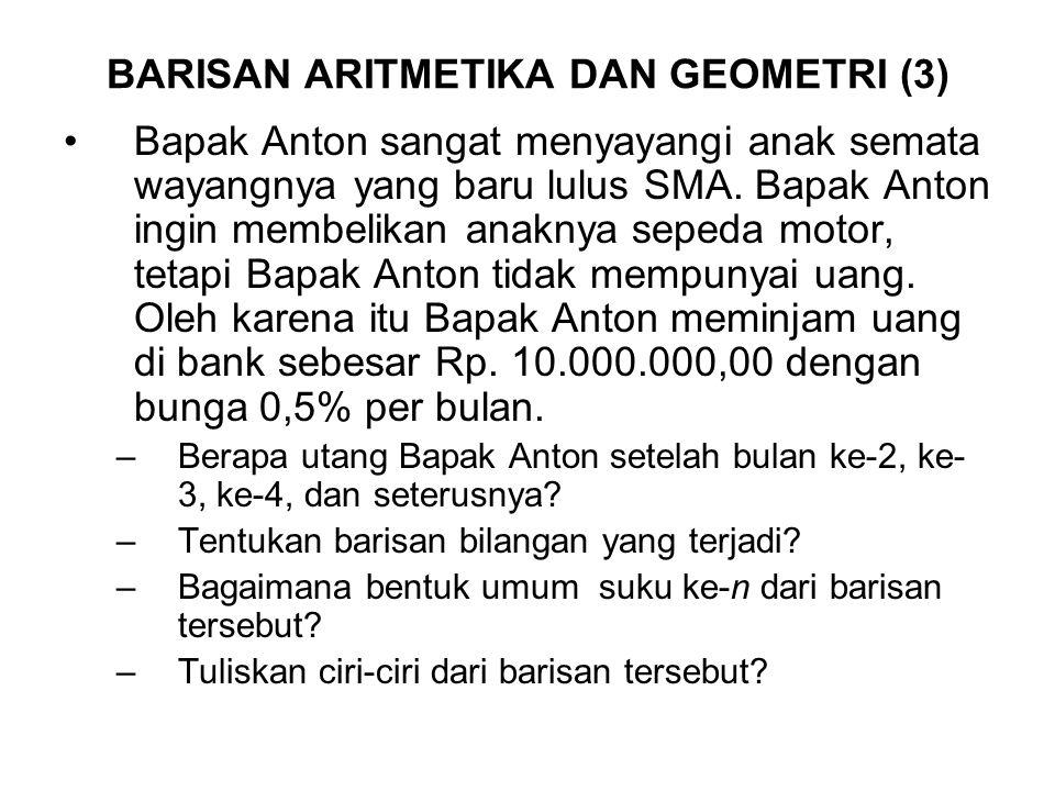 BARISAN ARITMETIKA DAN GEOMETRI (3)