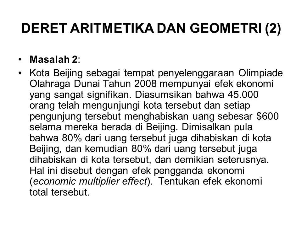 DERET ARITMETIKA DAN GEOMETRI (2)