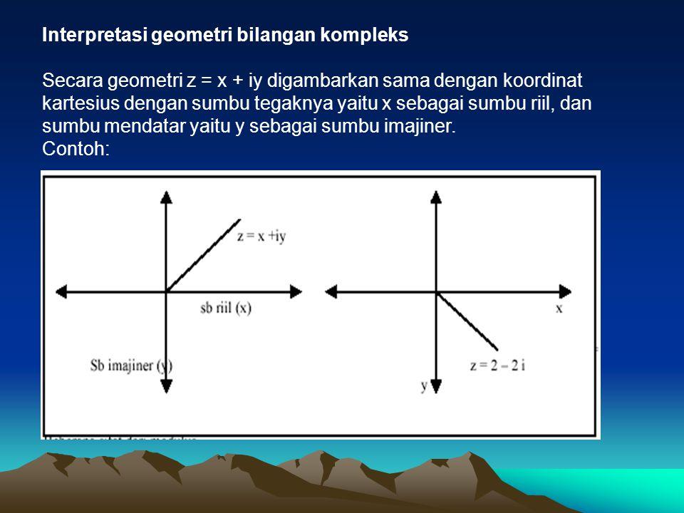 Interpretasi geometri bilangan kompleks