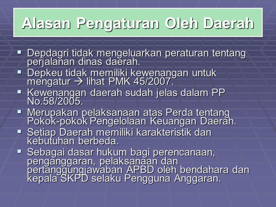 Alasan Pengaturan Oleh Daerah
