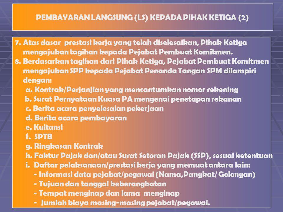 PEMBAYARAN LANGSUNG (LS) KEPADA PIHAK KETIGA (2)
