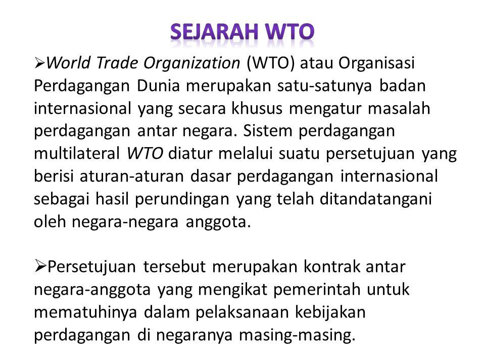 SEJARAH WTO