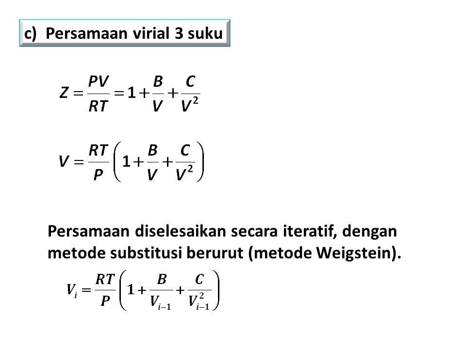 c) Persamaan virial 3 suku