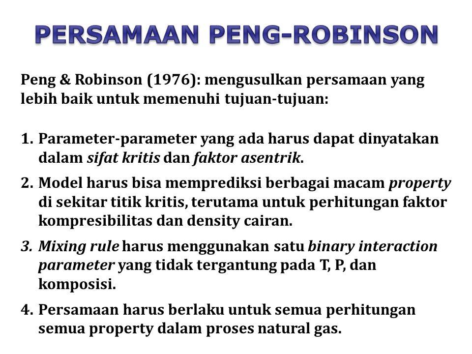 PERSAMAAN PENG-ROBINSON