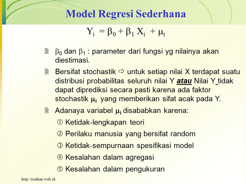Model Regresi Sederhana