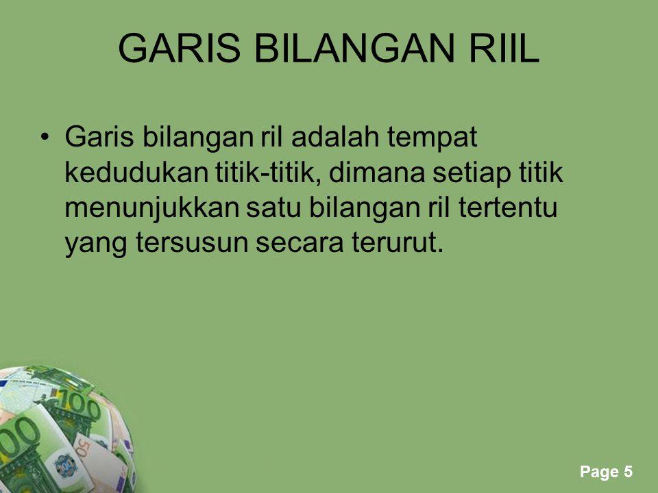 GARIS BILANGAN RIIL