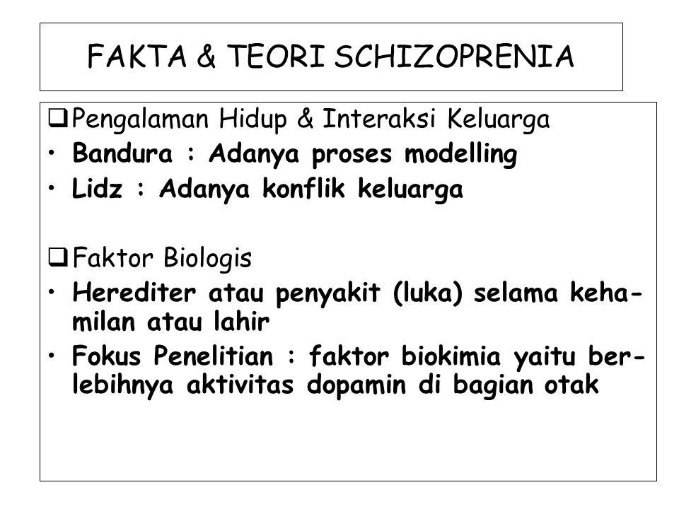FAKTA & TEORI SCHIZOPRENIA