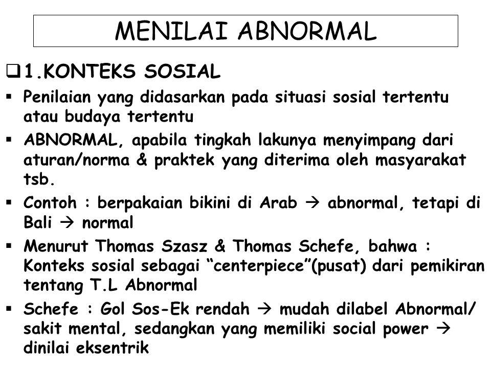 MENILAI ABNORMAL 1.KONTEKS SOSIAL