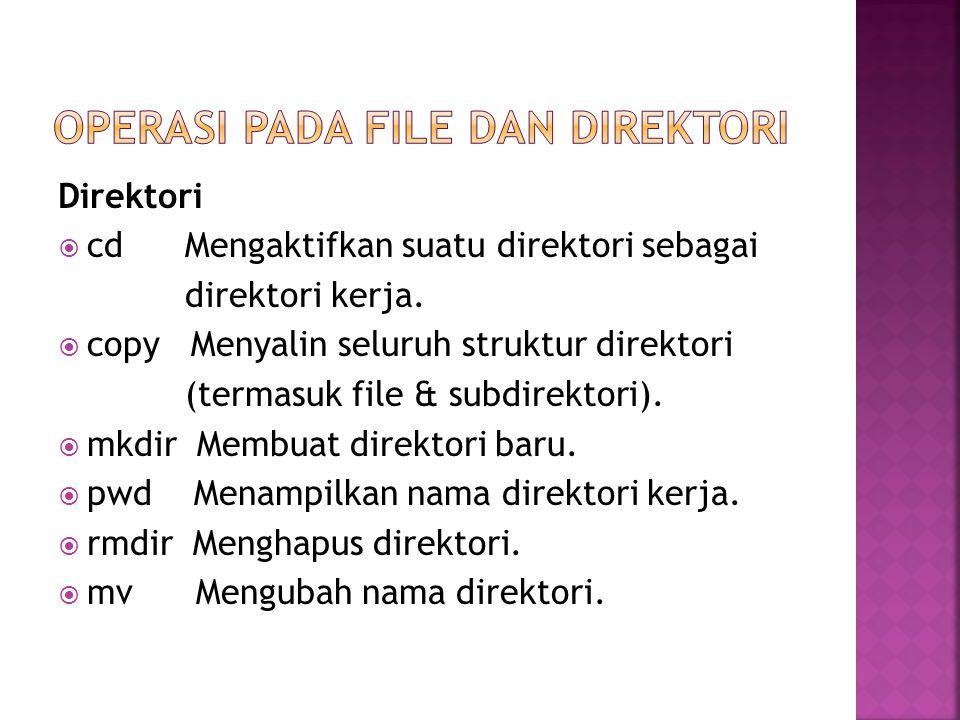 Operasi pada File dan Direktori