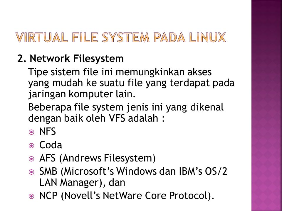 Virtual File System pada Linux