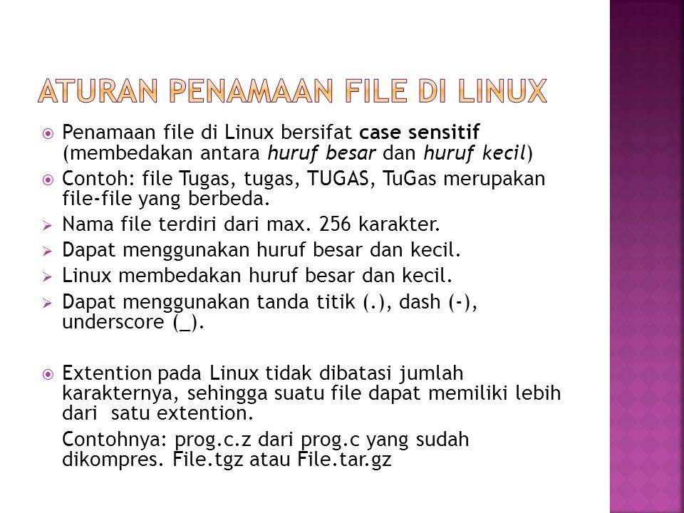 Aturan Penamaan File di linux