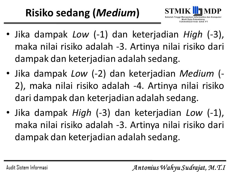 Risiko sedang (Medium)