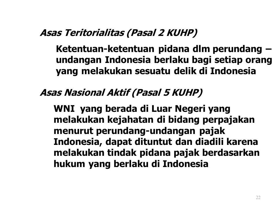 Asas Teritorialitas (Pasal 2 KUHP)